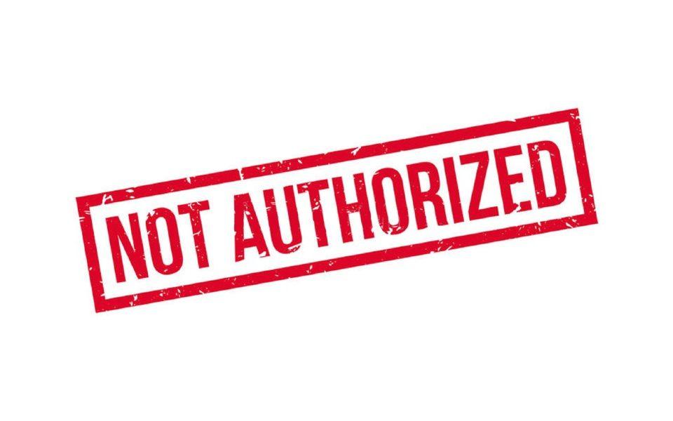 pre-authorization not authorized